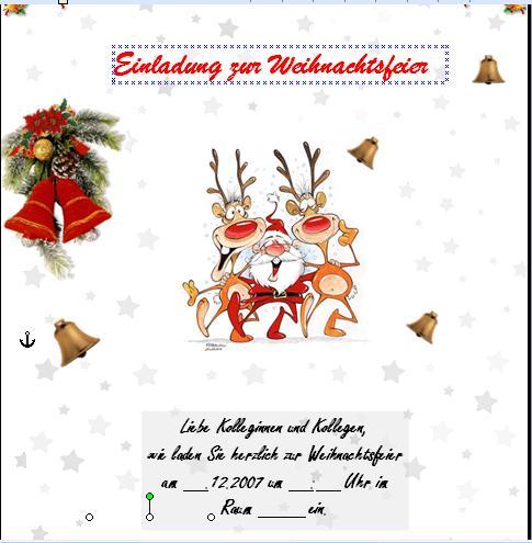 ist diese einladung zur weihnachtsfeier ok? (word, einladung, Einladung
